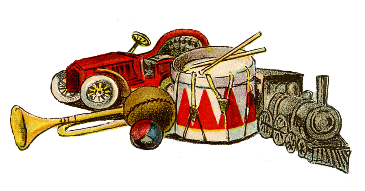 Christmas Toys Art : Vintage toy clipart clipground