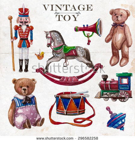 Vintage Toys Stock Photos, Royalty.