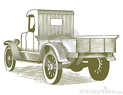 Vintage Pickup Truck Clipart.