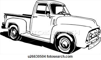 Vintage Truck Clipart.