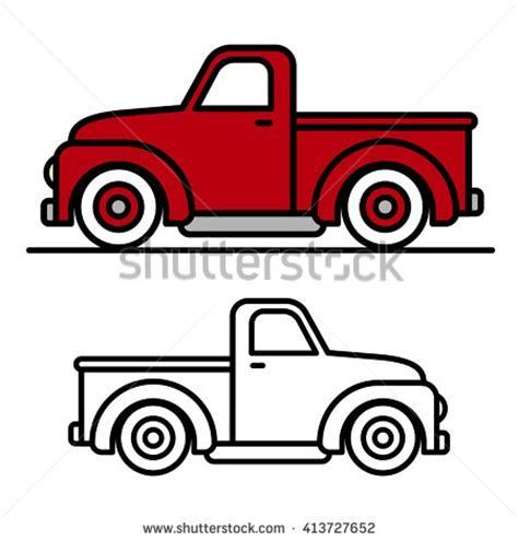 Image result for old Truck silhouette.