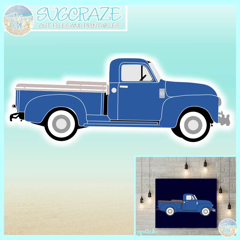 Vintage Antique Truck SVG.