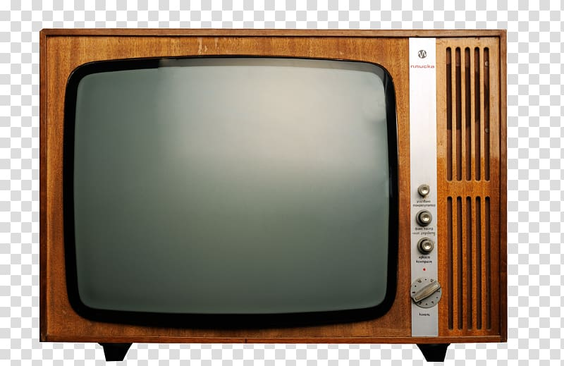 Vintage brown CRT television , Television , Retro TV.