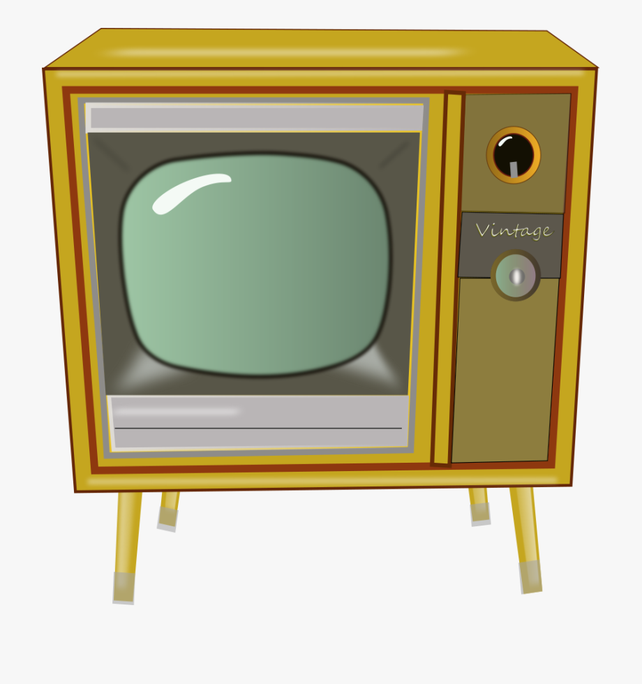 Vintage Tv Clipart Vector Clip Art Free Design.