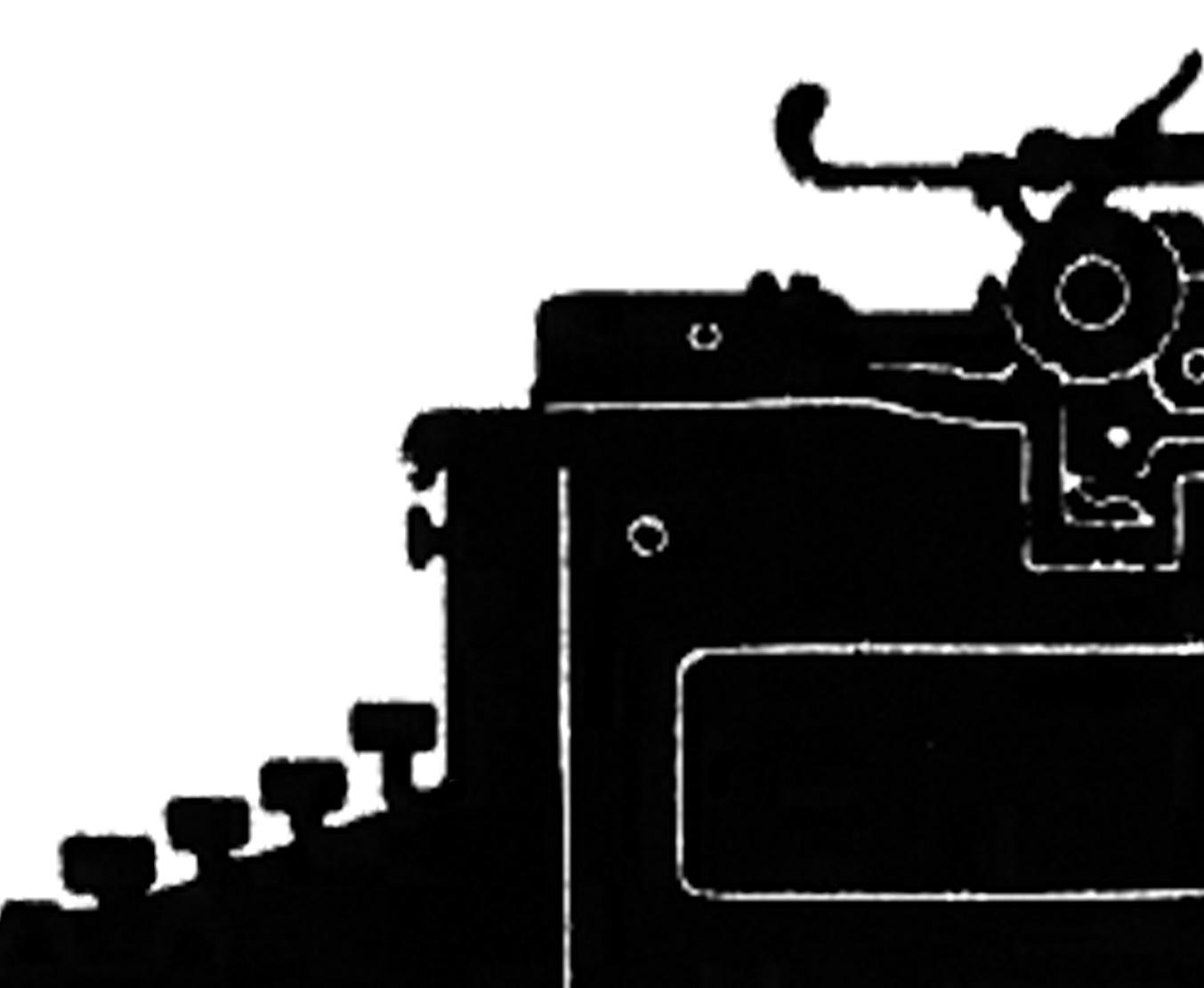 7 Vintage Typewriter Clipart!.