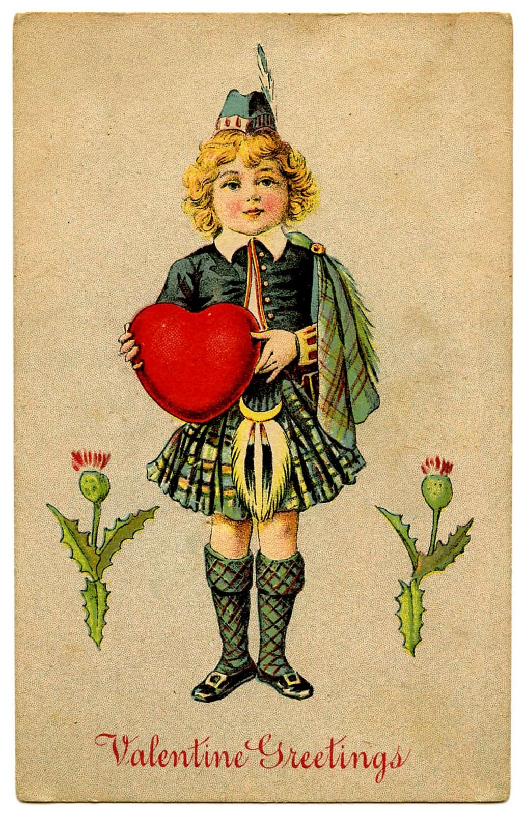 Vintage Valentine Clip Art.