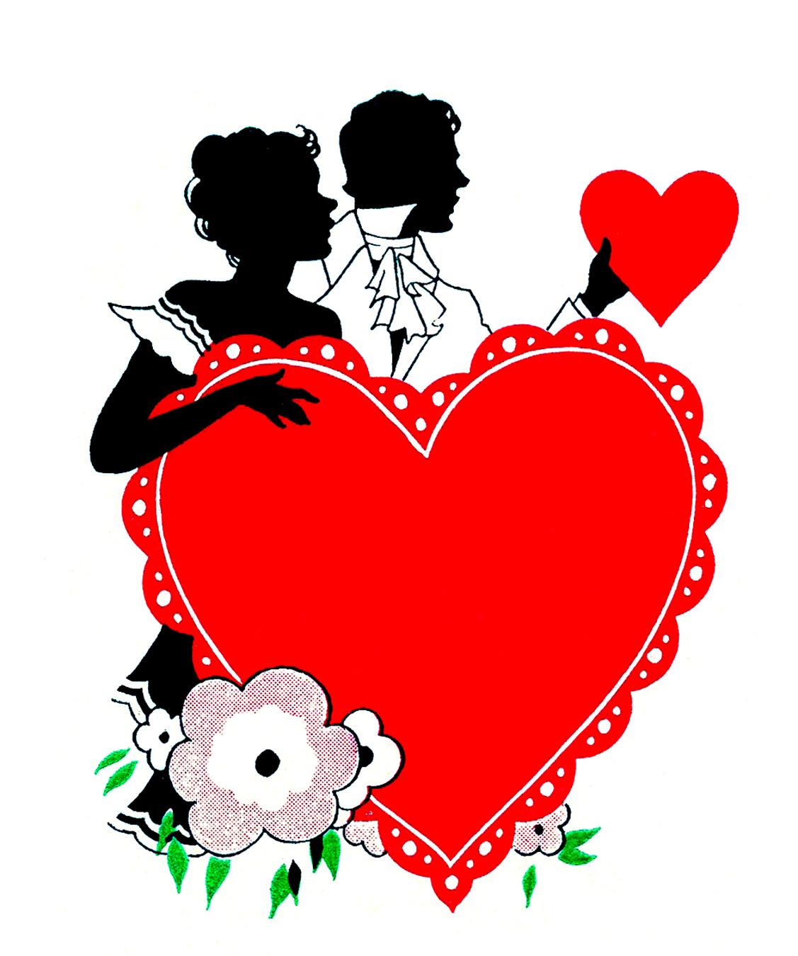 Valentines day vintage valentine cliparts.