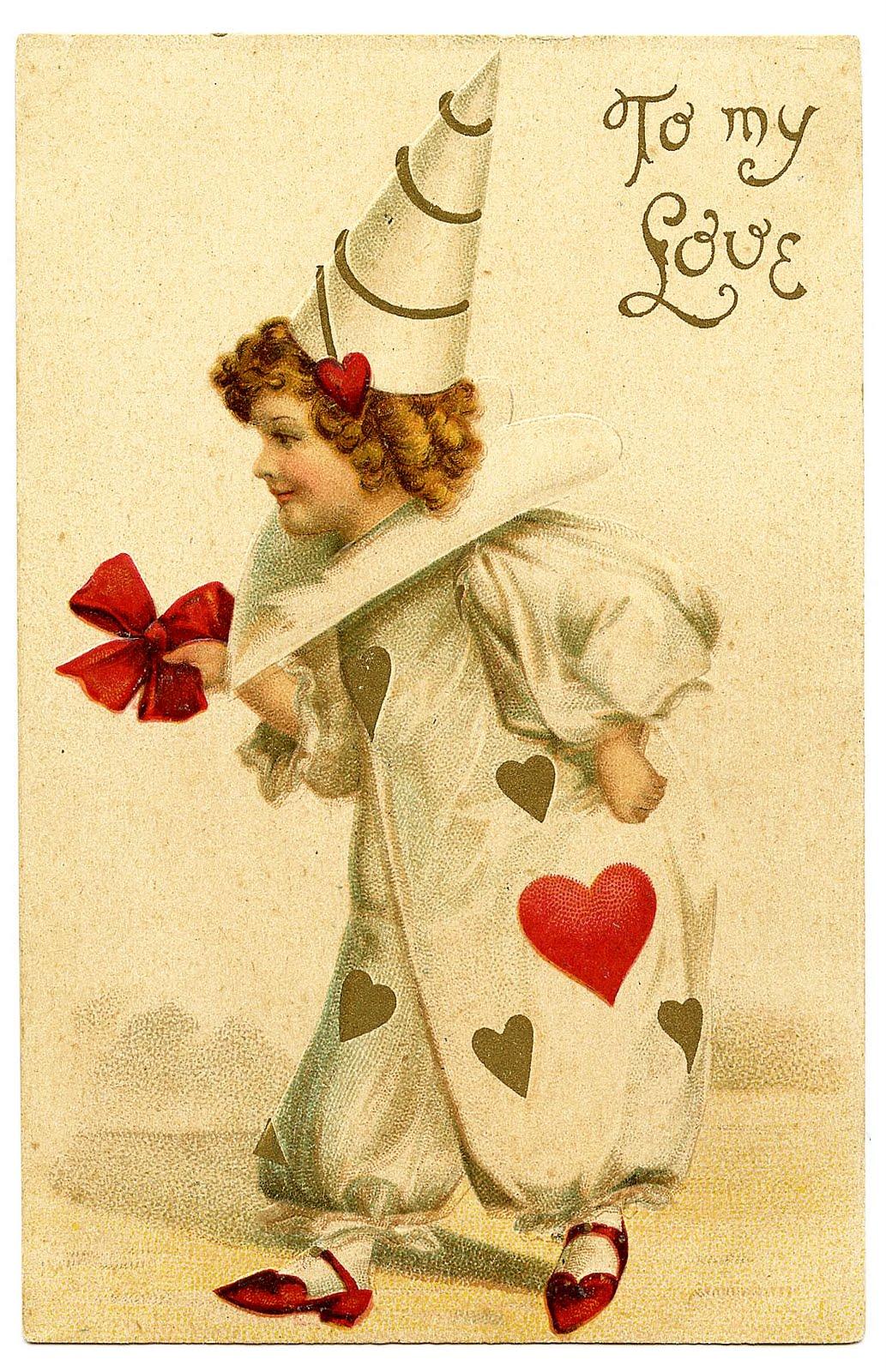 Vintage Valentine\'s Day Clip Art.