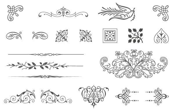 Vintage Vector Ornaments Png Vector, Clipart, PSD.