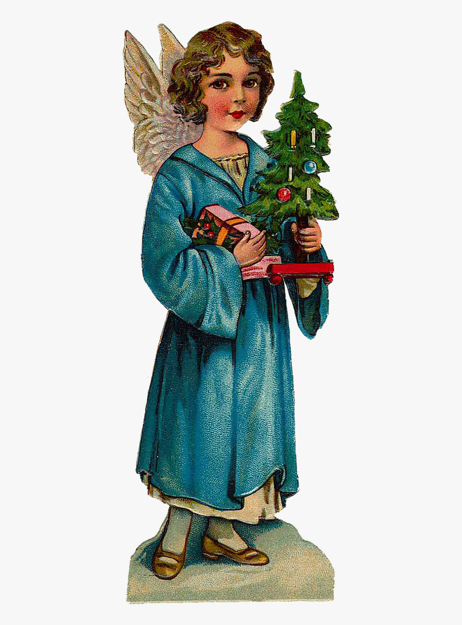 Victorian Christmas Angel Clipart.