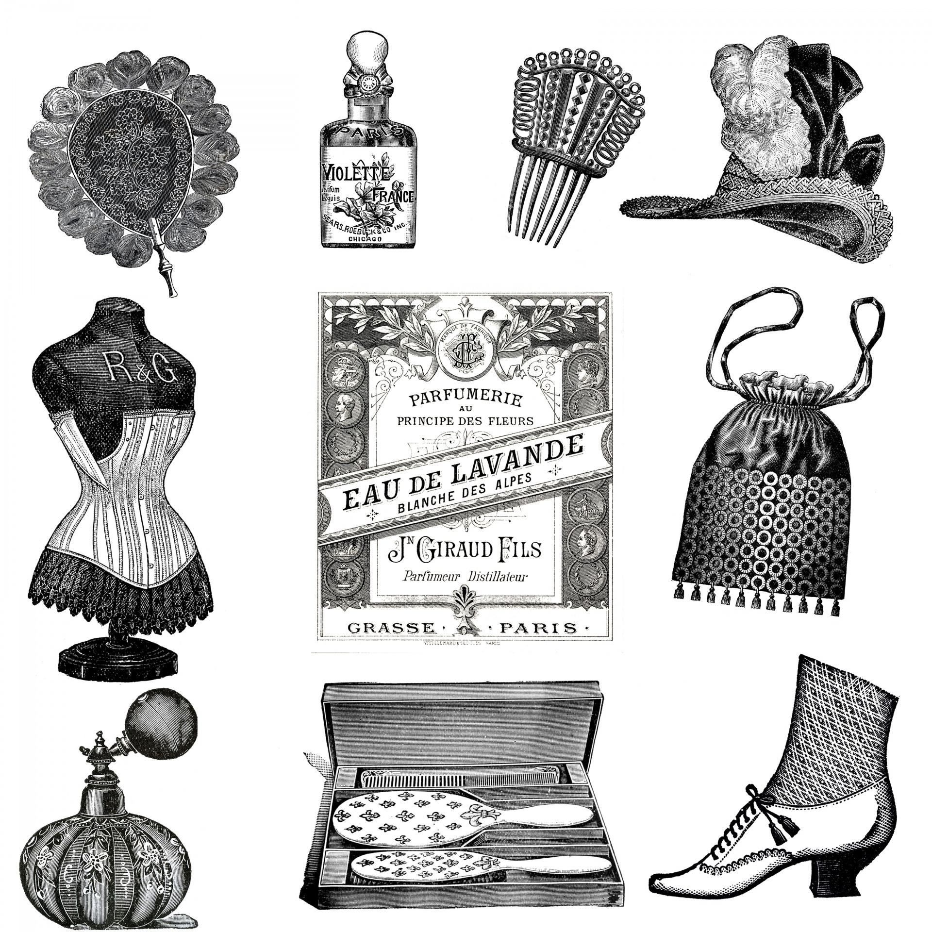 Accessories,clipart,clip art,vintage,victorian.