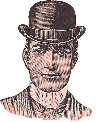 Vintage Derby Hat Man transparent PNG.