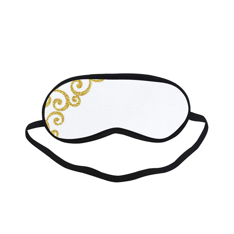 Amazon.com: Gold and White Fashion Black Printed Sleep Mask.