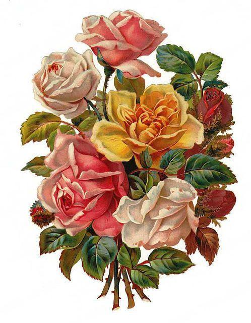 Victorian Flowers Sticker..❤.
