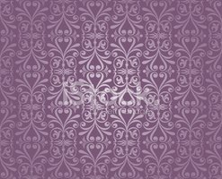 Violet and Silver Luxury Vintage Wallpaper Stock Vector.