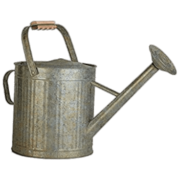 Vintage Galvanised Watering Can transparent PNG.