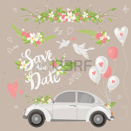 2,729 Wedding Car Stock Illustrations, Cliparts And Royalty Free.