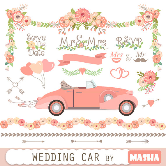 Vintage Wedding Car Clipart Clipground