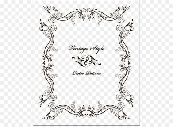 Wedding invitation Picture frame Ornament Vintage clothing.
