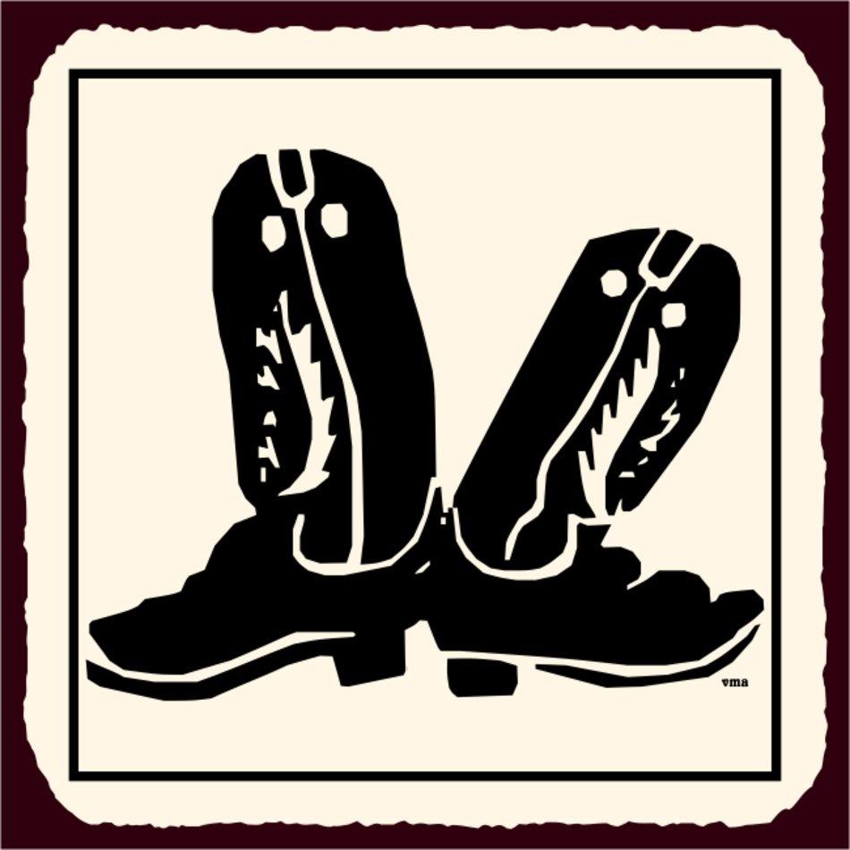 Vintage Western Cowboy Signs free image.