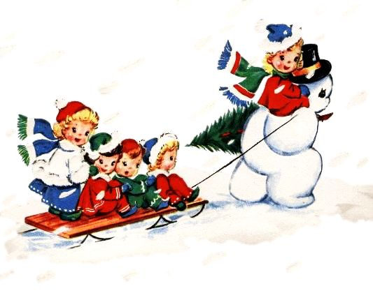 Vintage Holiday Clip Art.