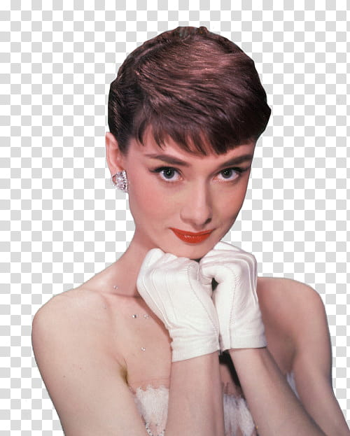 Vintage ll, woman wearing white gloves transparent.