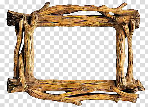 Rustic Wood Frames s, brown wooden frame illustration.