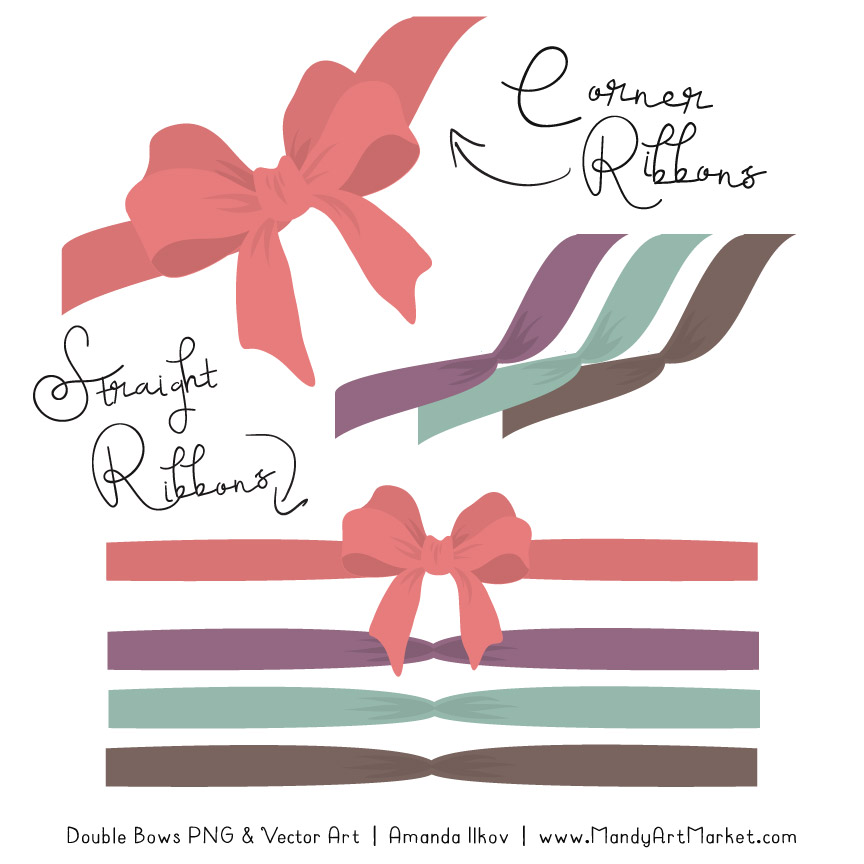 Free Vintage Girl Party Bow Clipart 4.