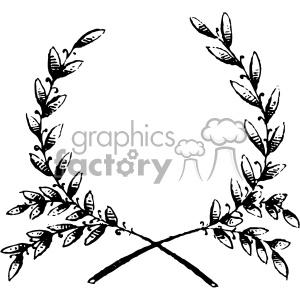 vintage grain wreath vector vintage 1900 vector art GF clipart.  Royalty.