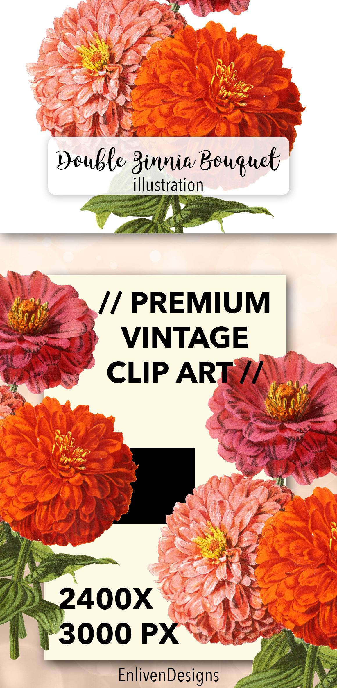 Flowers: Vintage Double Zinnia Bouquet By Enliven Designs.