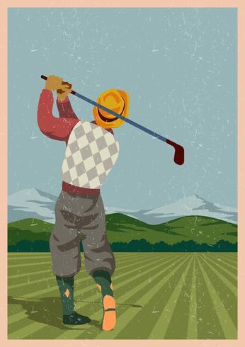 Vintage Golf Player.