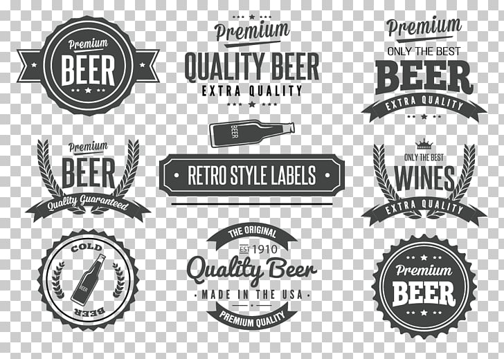 Label Vintage Logo , beer labels, assorted.