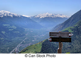 Stock Images of The Vinschgau in South Tyrol.