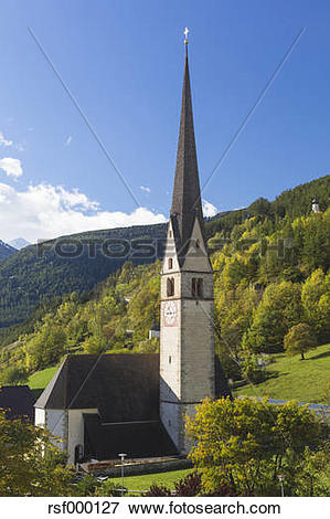 Picture of Italy, South Tyrol, Vinschgau, Mals, parish church.