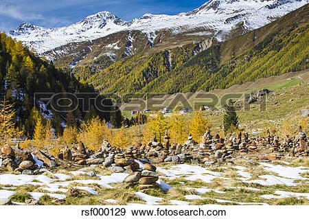 Stock Photograph of Italy, South Tyrol, Vinschgau, Langtaufer.