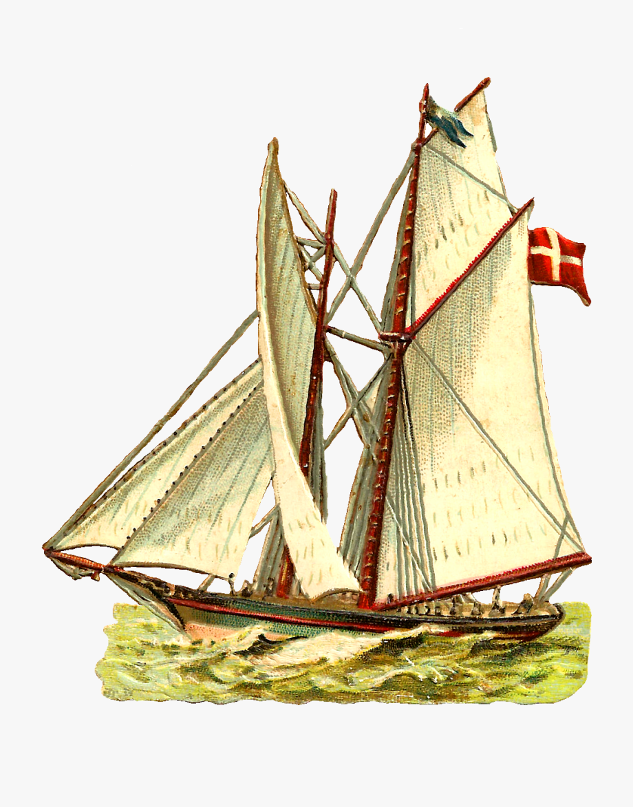 Sailing Ship Clipart Vintage.