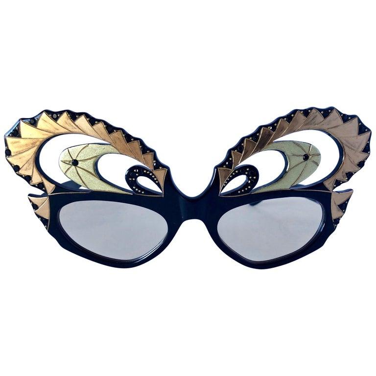 Vintage French Designer Deco Eyeglass Frames at 1stdibs.
