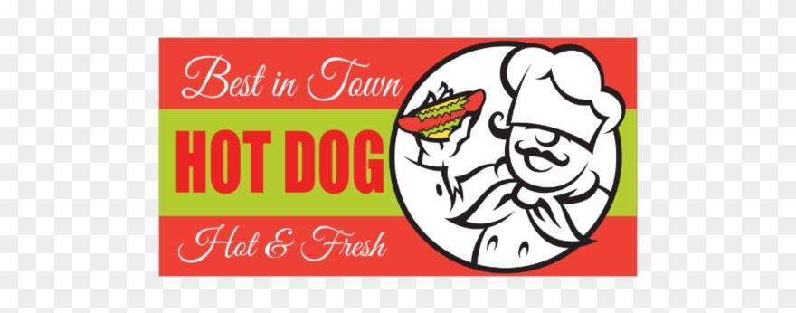 Basic Hot Dogs Vinyl Banner.