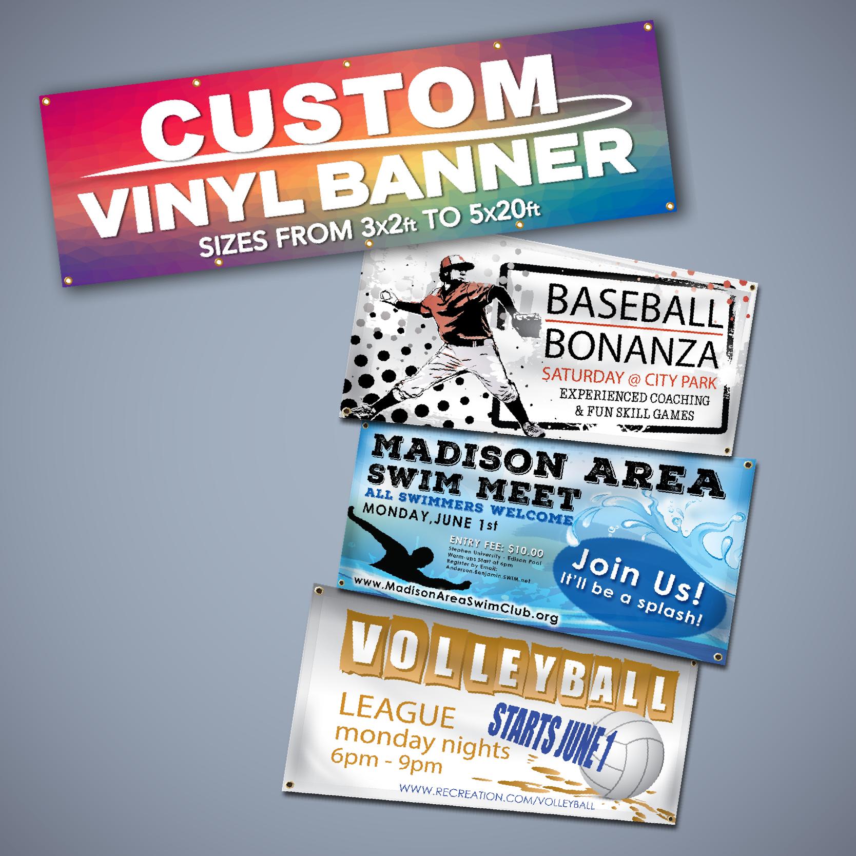 Vinyl Banners.