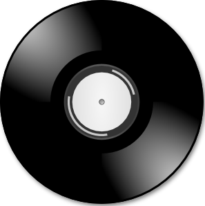 Record Clipart Black And White.