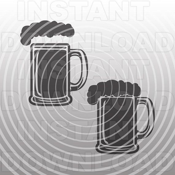 Beer Mug with Foam SVG File,Beer SVG File,Cutting Template.