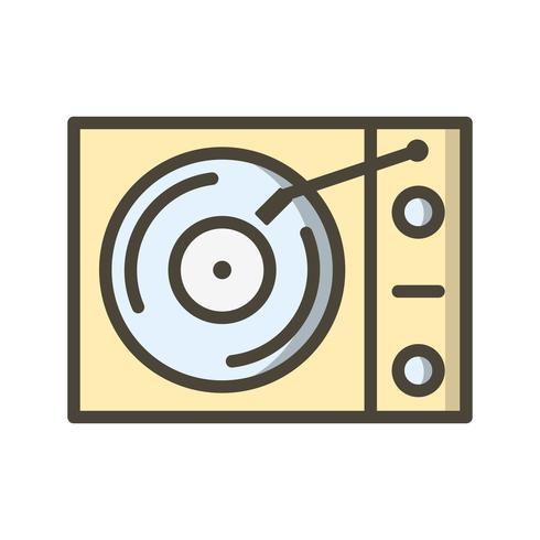 Vinyl player Vector Icon.