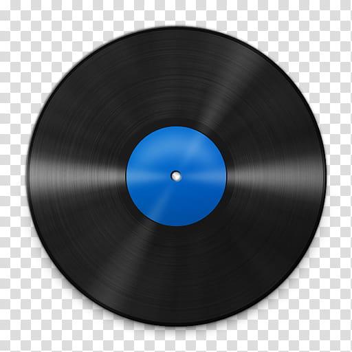 Vinyl Record Icons, Vinyl_Blue_, black vinyl record.