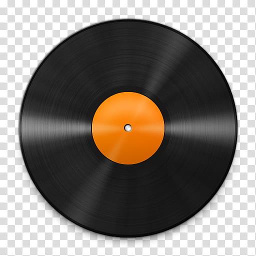 Vinyl Record Icons, Vinyl_Orange_, vinyl record art.