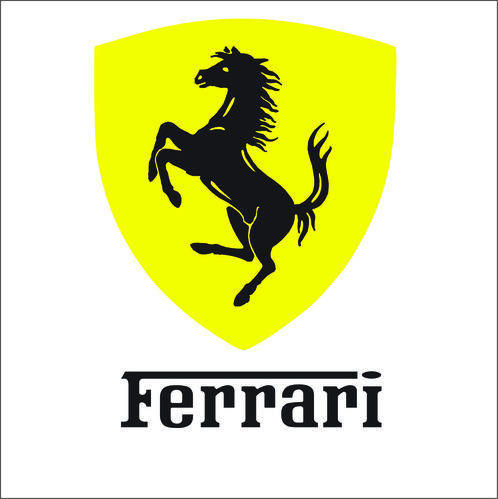 Ferrari Vinyl Sticker Decal Logo.