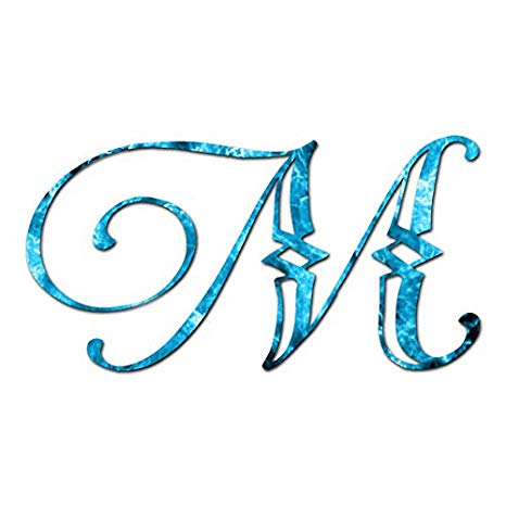 Amazon.com: Monogram Font M Initial.
