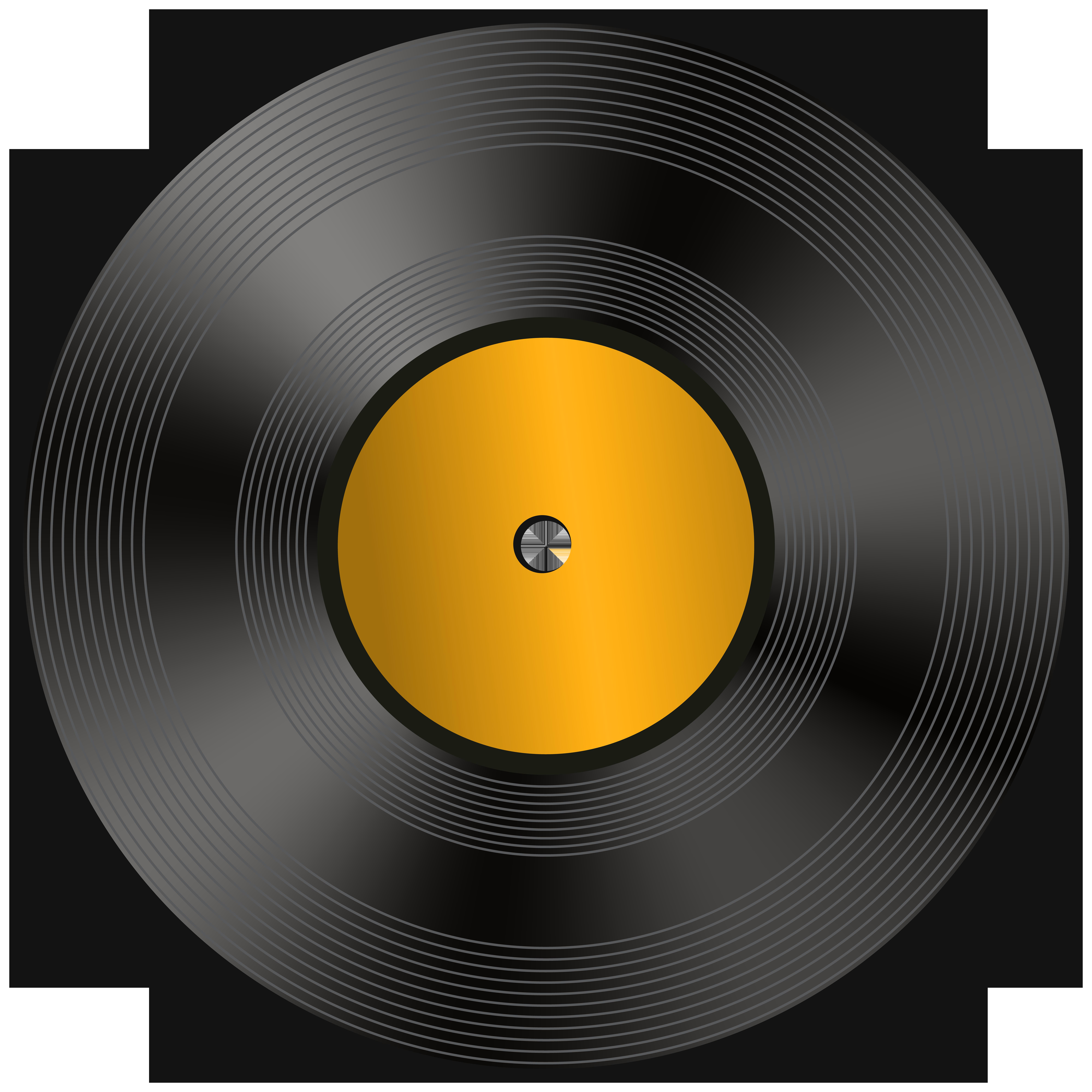 Vinyl Record PNG Clip Art Image.
