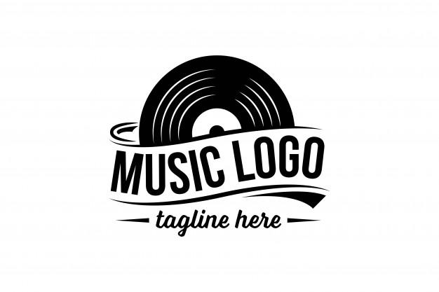 Vinyl record logo template Vector.
