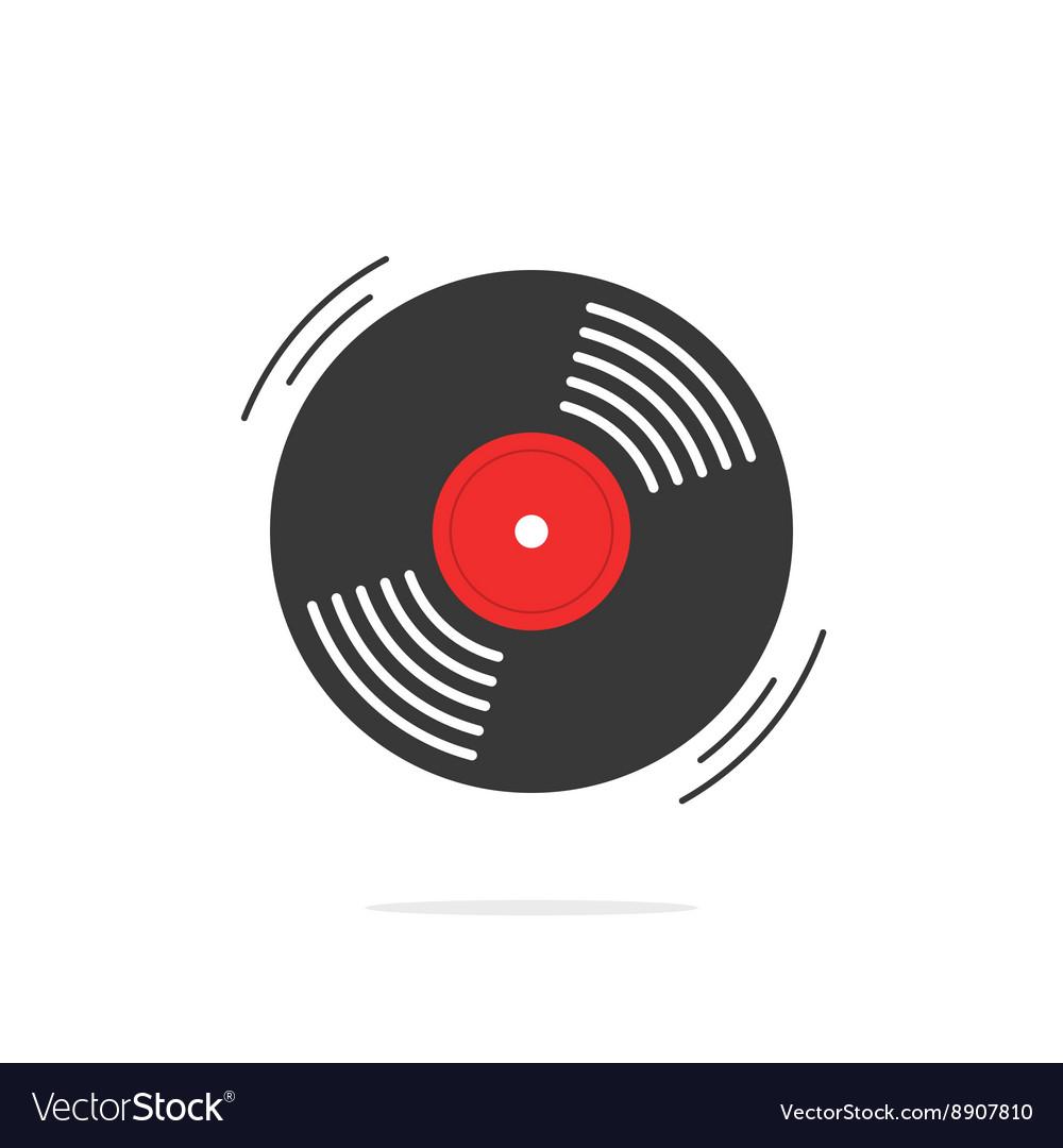 Vinyl record icon gramophone disk.