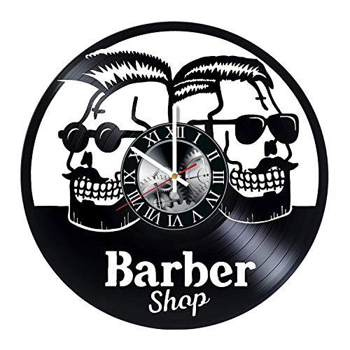 Amazon.com: Barber Shop Logo Vinyl Record Wall Clock.